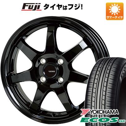 タイヤはフジ 送料無料 HOT STUFF ホットスタッフ ジースピード G-03 4.5J 4.50-14 YOKOHAMA エコス ES31 165/55R14 14インチ サマータイヤ ホイール4本セット