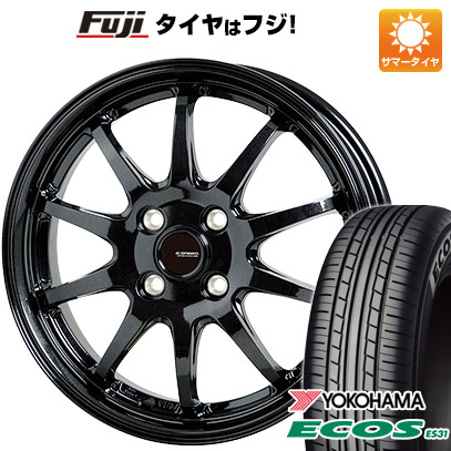 タイヤはフジ 送料無料 HOT STUFF ホットスタッフ ジースピード G-04 4.5J 4.50-14 YOKOHAMA エコス ES31 165/55R14 14インチ サマータイヤ ホイール4本セット