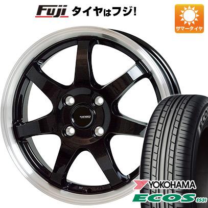 タイヤはフジ 送料無料 HOT STUFF ホットスタッフ ジースピード P-03 4.5J 4.50-14 YOKOHAMA エコス ES31 165/55R14 14インチ サマータイヤ ホイール4本セット