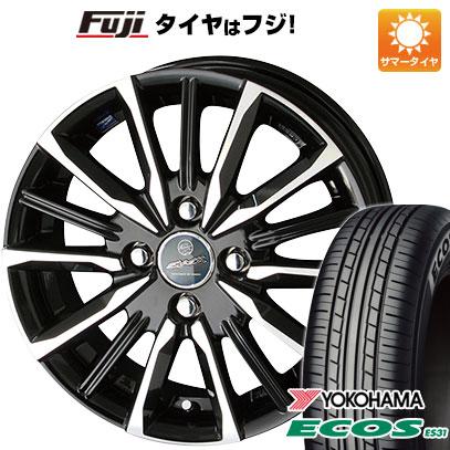 タイヤはフジ 送料無料 KYOHO 共豊 スマック プライム ヴァルキリー 4.5J 4.50-14 YOKOHAMA エコス ES31 165/55R14 14インチ サマータイヤ ホイール4本セット