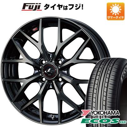 タイヤはフジ 送料無料 WEDS ウェッズ レオニス MX 5.5J 5.50-15 YOKOHAMA エコス ES31 185/65R15 15インチ サマータイヤ ホイール4本セット