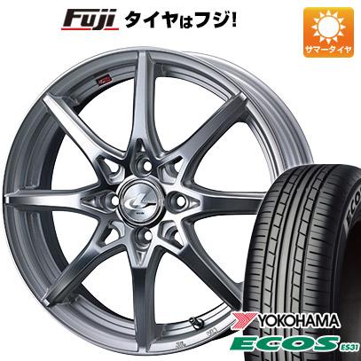 タイヤはフジ 送料無料 WEDS ウェッズ レオニス SV 6.5J 6.50-17 YOKOHAMA エコス ES31 205/50R17 17インチ サマータイヤ ホイール4本セット
