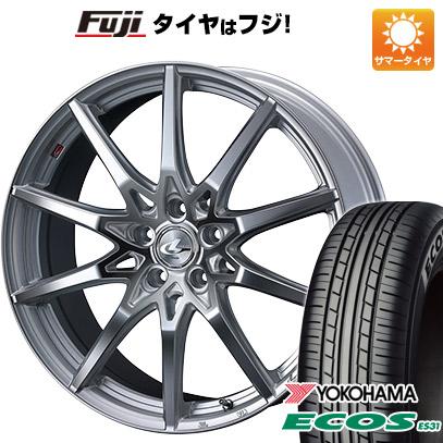 タイヤはフジ 送料無料 WEDS ウェッズ レオニス SV 7J 7.00-17 YOKOHAMA エコス ES31 215/55R17 17インチ サマータイヤ ホイール4本セット