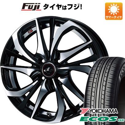 タイヤはフジ 送料無料 WEDS ウェッズ レオニス TE 6J 6.00-16 YOKOHAMA エコス ES31 185/55R16 16インチ サマータイヤ ホイール4本セット