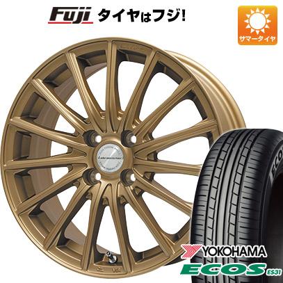 タイヤはフジ 送料無料 LEHRMEISTER LM-S FS15 (ブロンズ) 4.5J 4.50-15 YOKOHAMA エコス ES31 165/55R15 15インチ サマータイヤ ホイール4本セット