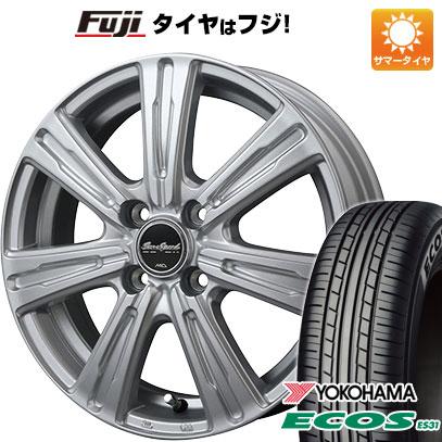 タイヤはフジ 送料無料 MID ユーロスピード C-07 4.5J 4.50-15 YOKOHAMA エコス ES31 165/50R15 15インチ サマータイヤ ホイール4本セット