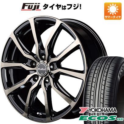 タイヤはフジ 送料無料 MID ユーロスピード D.C.52 6J 6.00-15 YOKOHAMA エコス ES31 205/65R15 15インチ サマータイヤ ホイール4本セット