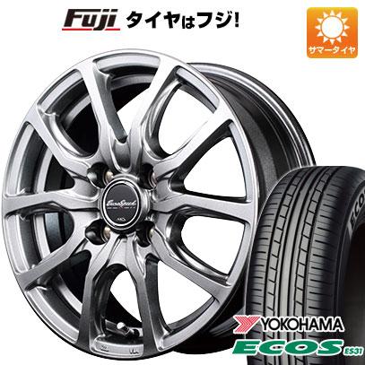 タイヤはフジ 送料無料 MID ユーロスピード G52 4.5J 4.50-15 YOKOHAMA エコス ES31 165/50R15 15インチ サマータイヤ ホイール4本セット