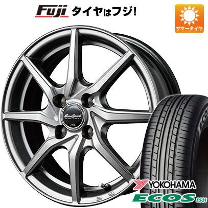 タイヤはフジ 送料無料 ソリオ(MA36S) MID ユーロスピード G810 4.5J 4.50-15 YOKOHAMA エコス ES31 165/65R15 15インチ サマータイヤ ホイール4本セット