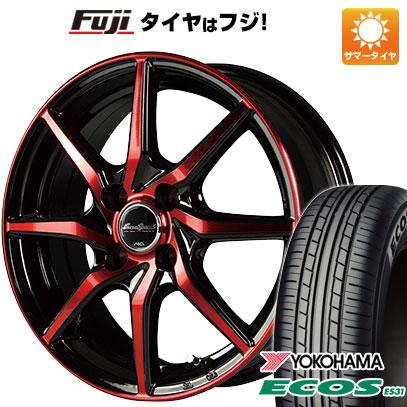 タイヤはフジ 送料無料 MID ユーロスピード S810 5.5J 5.50-15 YOKOHAMA エコス ES31 175/55R15 15インチ サマータイヤ ホイール4本セット