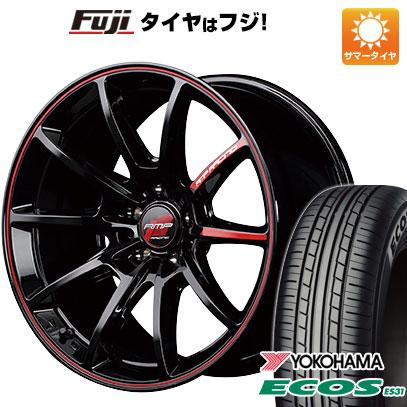 タイヤはフジ 送料無料 MID RMP レーシング R25 6J 6.00-16 YOKOHAMA エコス ES31 185/55R16 16インチ サマータイヤ ホイール4本セット