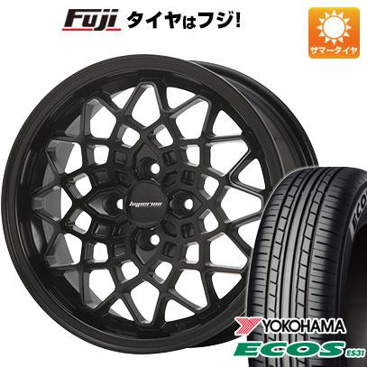 タイヤはフジ 送料無料 MLJ ハイペリオン カルマ 5J 5.00-15 YOKOHAMA エコス ES31 165/50R15 15インチ サマータイヤ ホイール4本セット