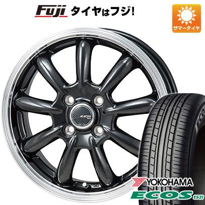 タイヤはフジ 送料無料 MONZA モンツァ JPスタイル バーニー 4J 4.00-13 YOKOHAMA エコス ES31 165/65R13 13インチ サマータイヤ ホイール4本セット