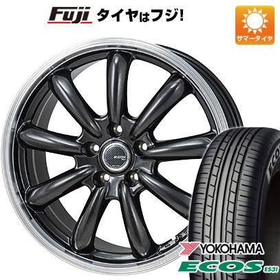 タイヤはフジ 送料無料 MONZA モンツァ JPスタイル バーニー 6.5J 6.50-16 YOKOHAMA エコス ES31 195/60R16 16インチ サマータイヤ ホイール4本セット