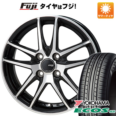 タイヤはフジ 送料無料 MONZA モンツァ JPスタイル グリッド 4J 4.00-13 YOKOHAMA エコス ES31 165/65R13 13インチ サマータイヤ ホイール4本セット