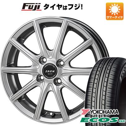 タイヤはフジ 送料無料 MONZA モンツァ ZACK シュポルト01 4.5J 4.50-15 YOKOHAMA エコス ES31 165/55R15 15インチ サマータイヤ ホイール4本セット