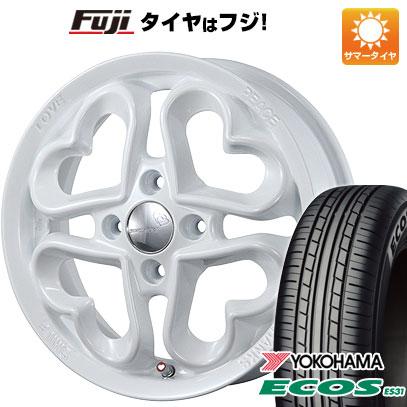 タイヤはフジ 送料無料 PIAA ジュエルハート 5J 5.00-15 YOKOHAMA エコス ES31 165/50R15 15インチ サマータイヤ ホイール4本セット