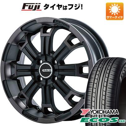 タイヤはフジ 送料無料 RAYS レイズ デイトナ KCXコレクション 5.5J 5.50-16 YOKOHAMA エコス ES31 175/60R16 16インチ サマータイヤ ホイール4本セット