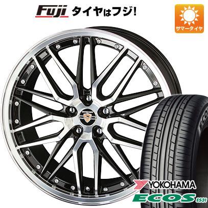 タイヤはフジ 送料無料 KYOHO 共豊 シュタイナー LMX 7.5J 7.50-18 YOKOHAMA エコス ES31 215/45R18 18インチ サマータイヤ ホイール4本セット