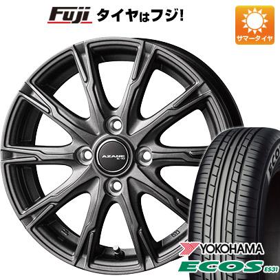 タイヤはフジ 送料無料 TOPY トピー アザーネ E10 4.5J 4.50-14 YOKOHAMA エコス ES31 165/55R14 14インチ サマータイヤ ホイール4本セット