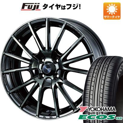 タイヤはフジ 送料無料 WEDS ウェッズスポーツ SA-35R 6J 6.00-15 YOKOHAMA エコス ES31 195/65R15 15インチ サマータイヤ ホイール4本セット