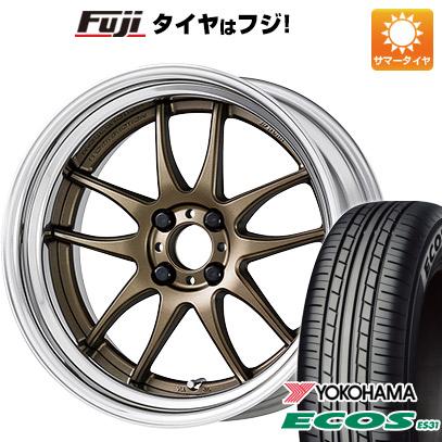タイヤはフジ 送料無料 WORK ワーク エモーション CR 2P 7.5J 7.50-17 YOKOHAMA エコス ES31 215/55R17 17インチ サマータイヤ ホイール4本セット