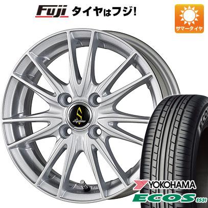 タイヤはフジ 送料無料 WORK ワーク セプティモ G02 シルバーメタリック 5.5J 5.50-14 YOKOHAMA エコス ES31 165/65R14 14インチ サマータイヤ ホイール4本セット