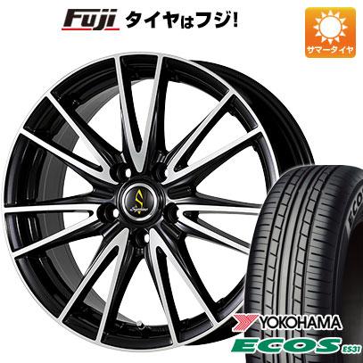 タイヤはフジ 送料無料 WORK ワーク セプティモ G02 ブラックポリッシュ 8J 8.00-18 YOKOHAMA エコス ES31 225/45R18 18インチ サマータイヤ ホイール4本セット