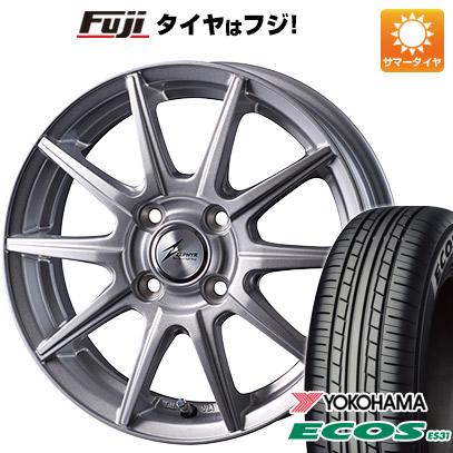 タイヤはフジ 送料無料 INTER MILANO インターミラノ ゼファー SR10J 5.5J 5.50-14 YOKOHAMA エコス ES31 185/70R14 14インチ サマータイヤ ホイール4本セット