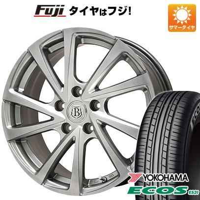タイヤはフジ 送料無料 BRANDLE ブランドル E04 7.5J 7.50-18 YOKOHAMA エコス ES31 215/45R18 18インチ サマータイヤ ホイール4本セット