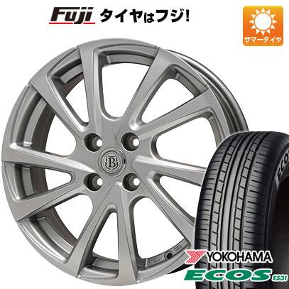 タイヤはフジ 送料無料 BRANDLE ブランドル E04 4.5J 4.50-14 YOKOHAMA エコス ES31 155/65R14 14インチ サマータイヤ ホイール4本セット