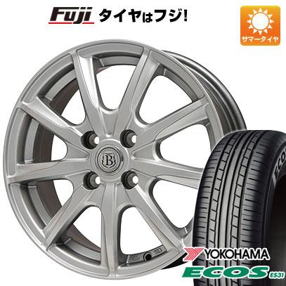 タイヤはフジ 送料無料 BRANDLE ブランドル E05 4.5J 4.50-14 YOKOHAMA エコス ES31 155/65R14 14インチ サマータイヤ ホイール4本セット