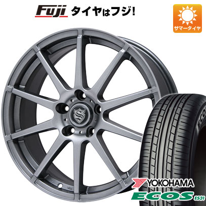 タイヤはフジ 送料無料 BRANDLE ブランドル 562 6.5J 6.50-16 YOKOHAMA エコス ES31 195/60R16 16インチ サマータイヤ ホイール4本セット