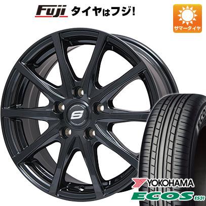タイヤはフジ 送料無料 BRANDLE ブランドル M71B 7.5J 7.50-18 YOKOHAMA エコス ES31 225/45R18 18インチ サマータイヤ ホイール4本セット