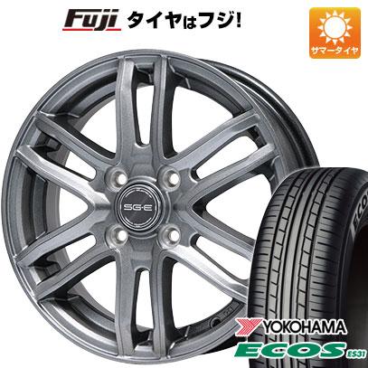 タイヤはフジ 送料無料 BRANDLE ブランドル G61 5.5J 5.50-14 YOKOHAMA エコス ES31 175/70R14 14インチ サマータイヤ ホイール4本セット
