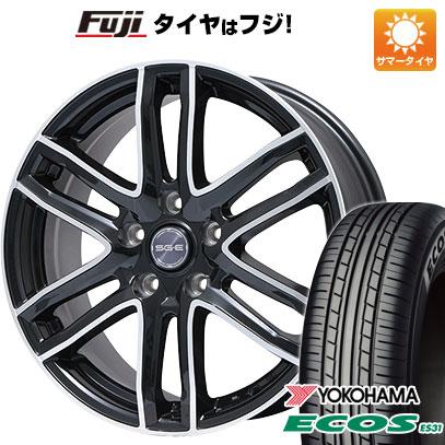 タイヤはフジ 送料無料 BRANDLE ブランドル G61B 6J 6.00-16 YOKOHAMA エコス ES31 205/60R16 16インチ サマータイヤ ホイール4本セット