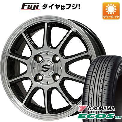 タイヤはフジ 送料無料 BRANDLE ブランドル Z01B 4J 4.00-13 155/70R13 13インチ YOKOHAMA エコス ES31 サマータイヤ ホイール4本セット
