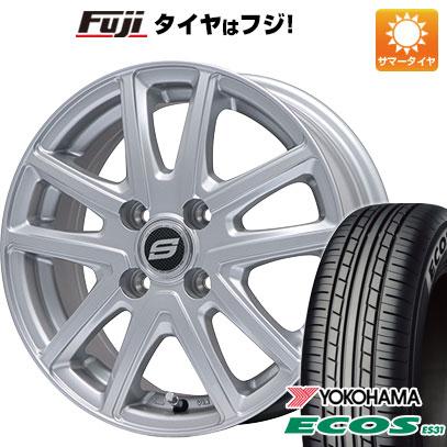 タイヤはフジ 送料無料 BRANDLE ブランドル M61 4.5J 4.50-14 YOKOHAMA エコス ES31 165/55R14 14インチ サマータイヤ ホイール4本セット