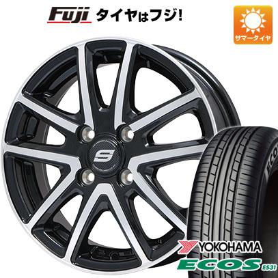 タイヤはフジ 送料無料 BRANDLE ブランドル M61BP 5.5J 5.50-14 YOKOHAMA エコス ES31 175/70R14 14インチ サマータイヤ ホイール4本セット