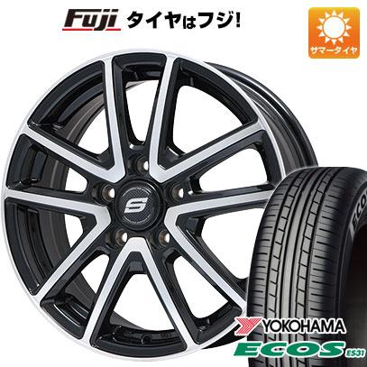 8月 2・5・8日はポイント倍増! タイヤはフジ 送料無料 BRANDLE ブランドル M61BP 7.5J 7.50-18 YOKOHAMA エコス ES31 225/45R18 18インチ サマータイヤ ホイール4本セット