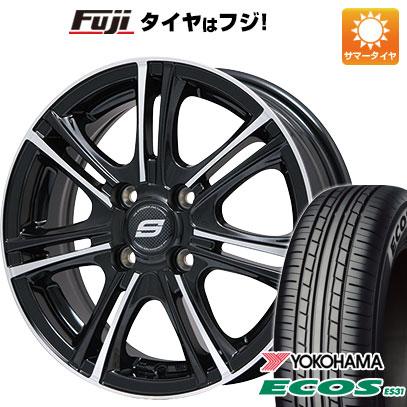 タイヤはフジ 送料無料 BRANDLE ブランドル M68BP 4.5J 4.50-14 YOKOHAMA エコス ES31 165/65R14 14インチ サマータイヤ ホイール4本セット