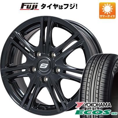 タイヤはフジ 送料無料 BRANDLE ブランドル M68B 7.5J 7.50-18 YOKOHAMA エコス ES31 225/45R18 18インチ サマータイヤ ホイール4本セット