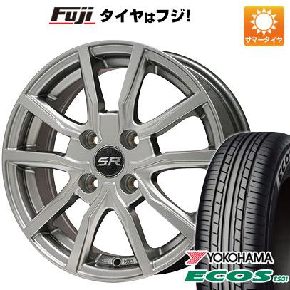 タイヤはフジ 送料無料 BRANDLE ブランドル N52 4.5J 4.50-14 YOKOHAMA エコス ES31 165/55R14 14インチ サマータイヤ ホイール4本セット