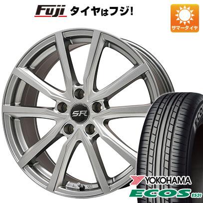 タイヤはフジ 送料無料 BRANDLE ブランドル N52 7J 7.00-17 YOKOHAMA エコス ES31 215/55R17 17インチ サマータイヤ ホイール4本セット