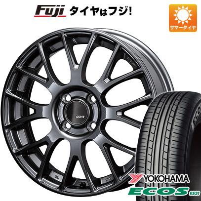 【送料無料】 165/55R15 15インチ SSR GTV04 5J 5.00-15 YOKOHAMA ヨコハマ エコス ES31 サマータイヤ ホイール4本セット