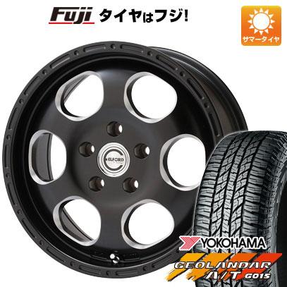タイヤはフジ 送料無料 ELFORD ブラッドストック ブラッドストック 1P 7J 7.00-16 YOKOHAMA ジオランダー A/T G015 RBL 225/70R16 16インチ サマータイヤ ホイール4本セット