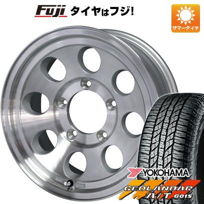 タイヤはフジ 送料無料 ジムニーシエラ CAN ジムライン タイプ2 6J 6.00-15 YOKOHAMA ジオランダー A/T G015 RBL 195/80R15 15インチ サマータイヤ ホイール4本セット