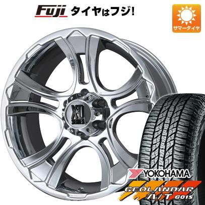 タイヤはフジ 送料無料 KMC XDシリーズ XD801 クランク限定 9J 9.00-20 YOKOHAMA ジオランダー A/T G015 RBL 265/50R20 20インチ サマータイヤ ホイール4本セット