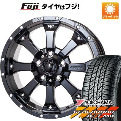 タイヤはフジ 送料無料 MKW MK-46 7.5J 7.50-17 YOKOHAMA ジオランダー A/T G015 RBL 225/65R17 17インチ サマータイヤ ホイール4本セット