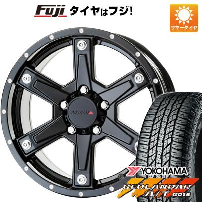 タイヤはフジ 送料無料 MKW MK-56 7J 7.00-16 YOKOHAMA ジオランダー A/T G015 RBL 225/70R16 16インチ サマータイヤ ホイール4本セット